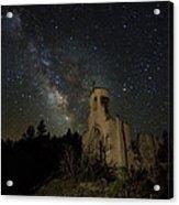St Aloysius Ruin And The Milky Way Acrylic Print