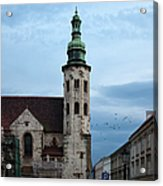St. Andrew's Church In Krakow At Dusk Acrylic Print