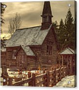 St Anne's Church In Winter Acrylic Print