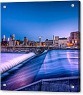 St. Anthony Falls In Minneapolis Acrylic Print