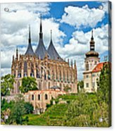 St Barbara Church Kutna Hora Acrylic Print