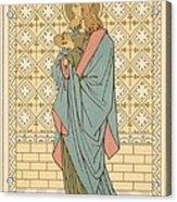 St Barnabas Acrylic Print by English School