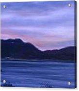St Bart's Twilight Acrylic Print