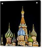 St. Basil's Cathedral At Night Acrylic Print