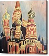 St Basil's Cathedral Moscow Acrylic Print by Suzanne  Marie Leclair