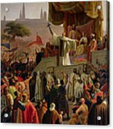 St Bernard Preaching The Second Crusade In Vezelay Acrylic Print