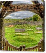 St Celynnin Graveyard Acrylic Print