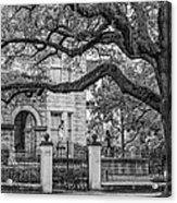 St. Charles Ave. Mansion 2 Bw Acrylic Print