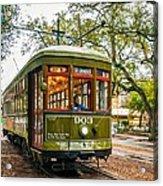 St. Charles Streetcar 2  Acrylic Print