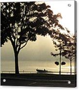 St. Clair Sunrise With Fog Acrylic Print
