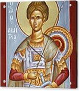 St Dimitrios The Myrrhstreamer Acrylic Print by Julia Bridget Hayes
