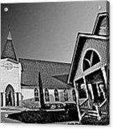 St. Francis - Abstract Bw Acrylic Print