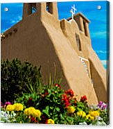 St Francis D'asis Mission Church. Taos New Mexico Acrylic Print