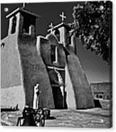 St Francis In Black And White Acrylic Print