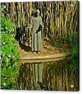 St. Francis In Nature Acrylic Print