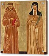 St. Francis Of Assisi And St. Clare Acrylic Print