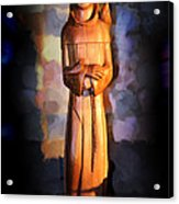 St. Francis Of Assisi By George Wood Acrylic Print
