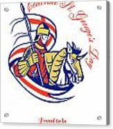 St. George Day Celebration Proud To Be English Retro Poster Acrylic Print