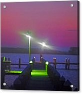 St. Georges Island Dock - Just Before Sunrise Acrylic Print