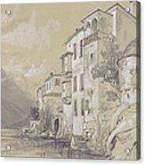 St Giulio Orta Acrylic Print by Edward Lear