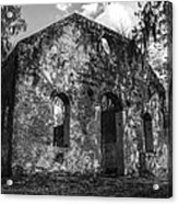 St Helena Chapel Of Ease  Bw 3 Acrylic Print by Steven  Taylor