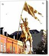 St Joan Of Arc Statue At Dawn Acrylic Print
