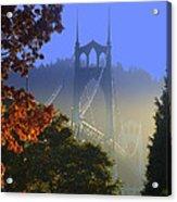 St. Johns Bridge Acrylic Print by DerekTXFactor Creative