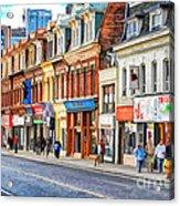 Yonge Street In Toronto Acrylic Print