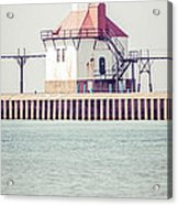St. Joseph Lighthouse Vertical Panorama Photo Acrylic Print