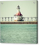 St. Joseph Lighthouse Vintage Picture  Acrylic Print