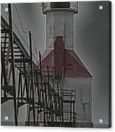 St. Joseph North Pier Lighthouse Lake Michigan Acrylic Print