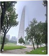 St Louis Arch In Spring Acrylic Print