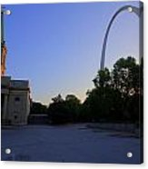 St Louis Basilica And Arch Acrylic Print