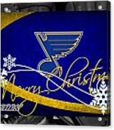 St Louis Blues Christmas Acrylic Print