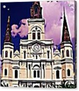 St Louis Cathedral In New Orleans Acrylic Print
