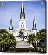 St. Louis Cathedral In New Orleans  Acrylic Print