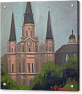 St. Louis Cathedral Acrylic Print by Lilibeth Andre