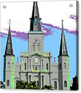 St Louis Cathedral Poster 2 Acrylic Print