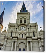 St Louis Cathedral Twilight Acrylic Print