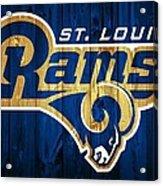 St. Louis Rams Barn Door Acrylic Print