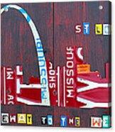 St. Louis Skyline License Plate Art Acrylic Print