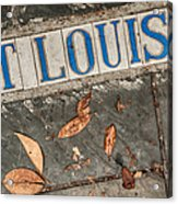 St Louis Street Tiles In New Orleans Acrylic Print