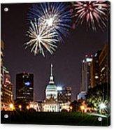 St. Louis Under Fire Acrylic Print