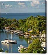 St Lucia Harbor Acrylic Print