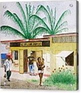 St. Lucia Store Acrylic Print