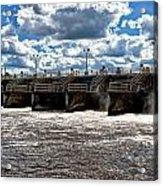 St Lucie Lock And Dam 2 Acrylic Print by Dan Dennison