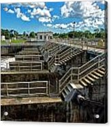 St Lucie Lock And Dam Acrylic Print by Dan Dennison