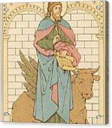 St Luke The Evangelist Acrylic Print by English School