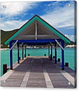 St. Maarten Pier Acrylic Print