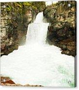 St Mary Falls Glacier National Park Acrylic Print